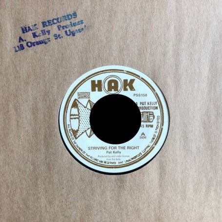 "(7"") PAT KELLY - STRIVING FOR THE RIGHT / WHEN A BOYS FALL IN LOVE"