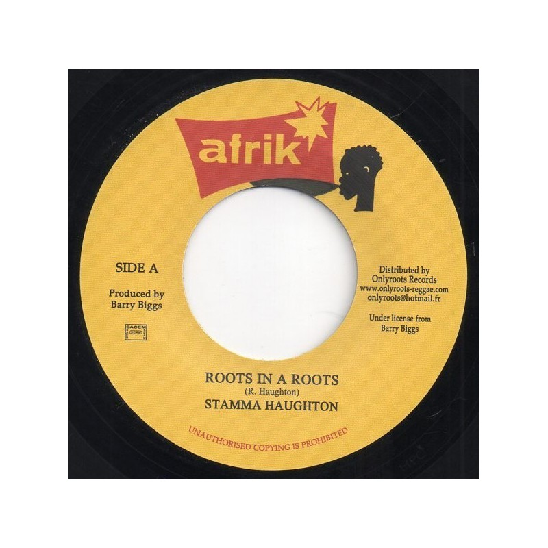 "(7"") STAMMA HAUGHTON - ROOTS IN A ROOTS / VERSION"
