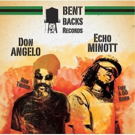 "(12"") ECHO MINOTT - FIRE A GO BURN / DON ANGELO - RUN THINGS"