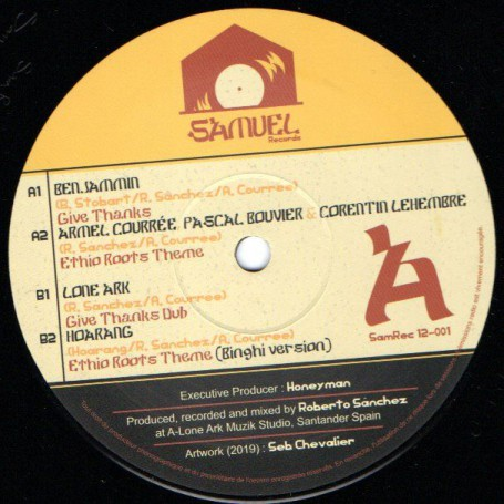 "(12"") BENJAMMIN - GIVE THANKS / LONE ARK - GIVE THANKS DUB"