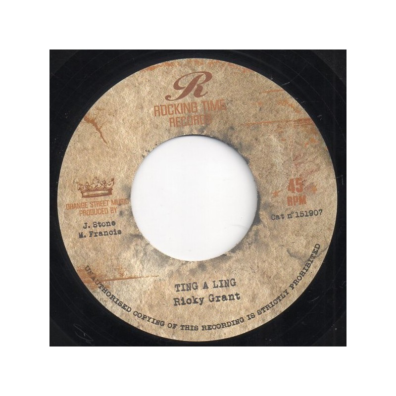 "(7"") RICKY GRANT - TING A LING / JOSEPH COTTON - CELEBRITY"