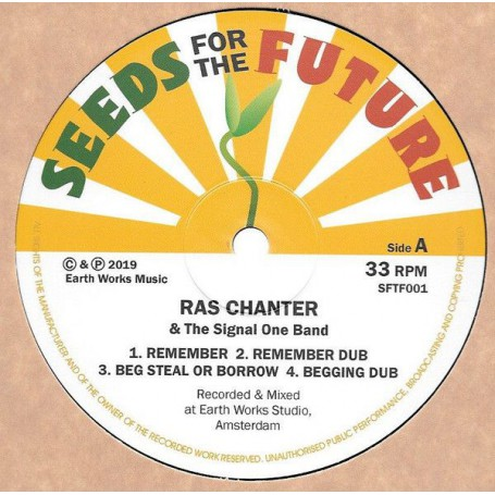 "(12"") RAS CHANTER & THE SIGNAL ONE BAND - REMEMBER / JAH IS REAL"