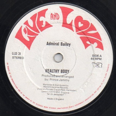 "(12"") ADMIRAL BAILEY - HEALTHY BODY / PUNANNY"