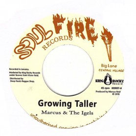 "(7"") MARCUS & THE IGELS - GROWING TALLER / STUDIO WORKS"