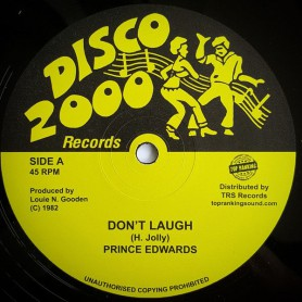 "(10"") PRINCE EDWARDS - DON'T LAUGH / LAUGH VERSION"