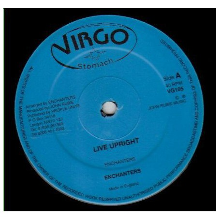 "(12"") ENCHANTERS - LIVE UPRIGHT / LEXLEY - RUB A HORN STYLE"