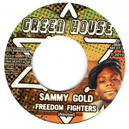 "(7"") SAMMY GOLD - FREEDOM FIGHTER / RAS MUFFET - FREEDOM FIGHTERS DUB"
