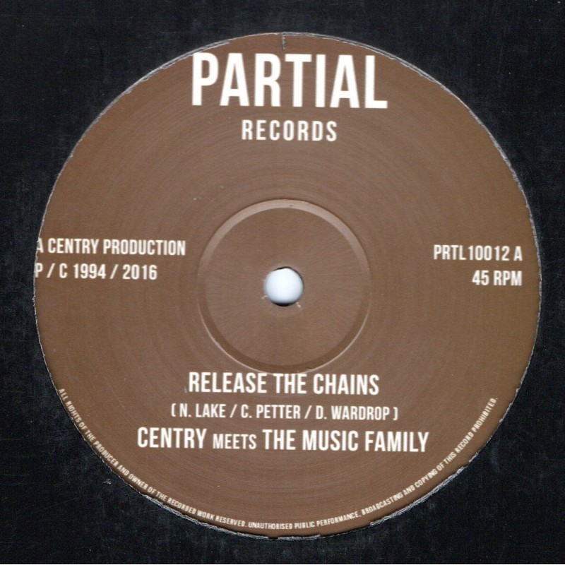 "(10"") CENTRY MEETS THE MUSIC FAMILY - RELEASE THE CHAINS / DUB MIX 3"