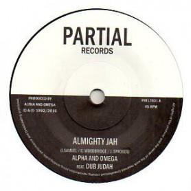 """(7"""") ALPHA & OMEGA FEAT DUB JUDAH - ALMIGHTY JAH / ALMIGHTY DUB"""