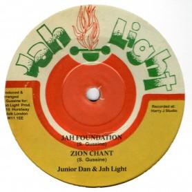 "(10"") JUNIOR DAN & JAH LIGHT - JAH FOUNDATION / ZION CHANT"