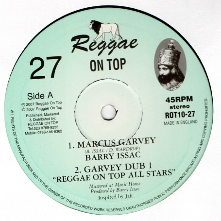 "(10"") BARRY ISSAC - MARCUS GARVEY / REGGAE ON TOP ALL STARS - GARVEY DUB"