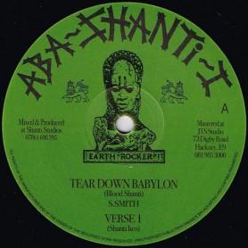 """(12"""") BLOOD SHANTI - TEAR DOWN BABYLON / VERSE I, II & III"""