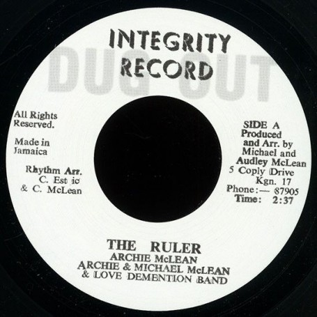 "(7"") ARCHIE MCLEAN - THE RULER / THE RULER PART 2"