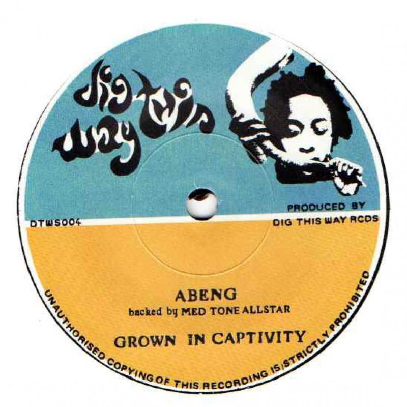 "(7"") ABENG & MED TONE ALLSTAR - GROWN IN CAPTIVITY / MANASSEH - DUB IN CAPTIVITY"