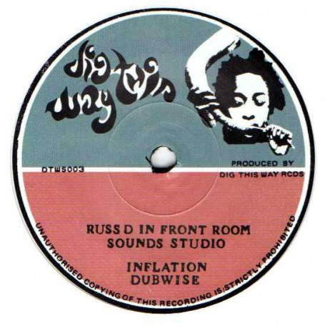 "(7"") PETER ABDUL & THE ABENG MUSICAL BOX - INFLATION / RUSS D IN FRONT ROOM SOUNDS STUDIO - INFLATION DUBWISE"