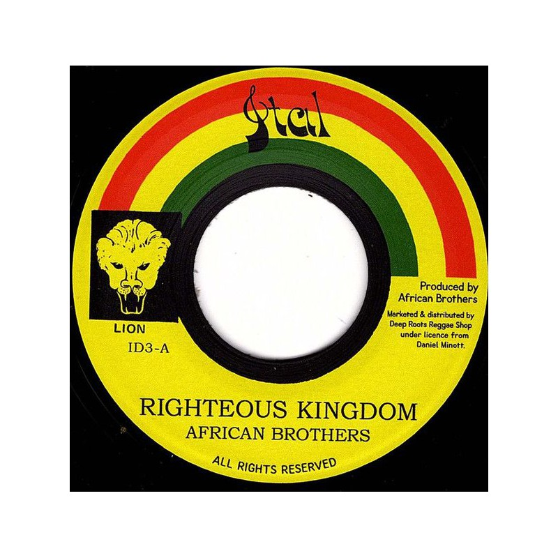 """(7"""") AFRICAN BROTHERS - RIGHTEOUS KINGDOM / VERSION"""