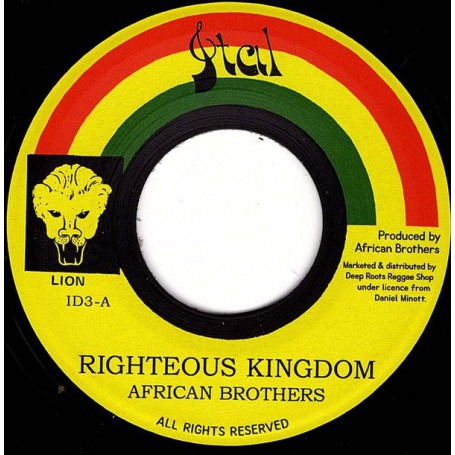 "(7"") AFRICAN BROTHERS - RIGHTEOUS KINGDOM / VERSION"