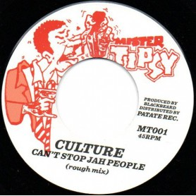 "(7"") CULTURE - CAN'T STOP JAH PEOPLE / VERSION"
