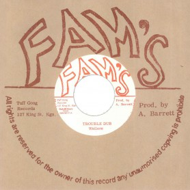 "(7"") THE WAILERS ‎– TROUBLE DUB / DUB FEELING"