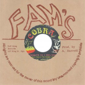 "(7"") FAMILY MAN & THE REBEL ARMS THE WAILERS ‎– TRIBUTE TO Y MAS GAN / STEPPERS ROCK"