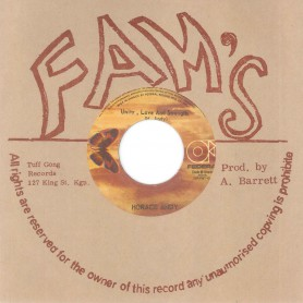 "(7"")  HORACE ANDY ‎– UNITY, LOVE AND STRENGTH / I STAND BEFORE YOU"