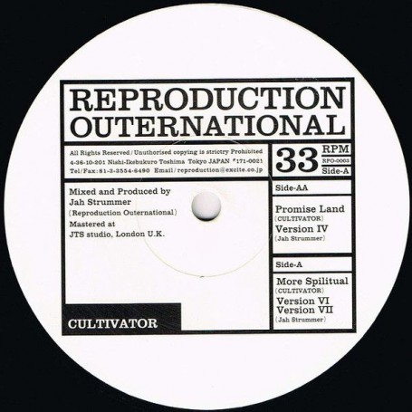 "(12"") CULTIVATOR - MORE SPIRITUAL / PROMISE LAND"