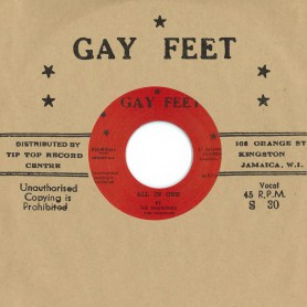 """(7"""") THE VALENTINES, THE FUGITIVES - ALL IN ONE/ LESLIE BUTLER – TOP CAT"""