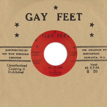 "(7"") THE VALENTINES, THE FUGITIVES - ALL IN ONE / LESLIE BUTLER ‎– TOP CAT"