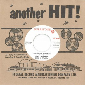 """(7"""") THE ETHIOPIANS - YOU GOT TO BE CLEAN / MISS NORA"""