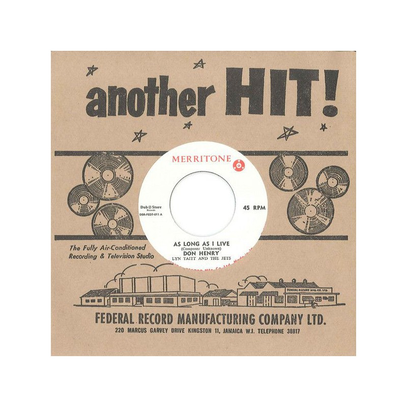 """(7"""") DON HENRY WITH LYN TAITT AND THE JETS - AS LONG AS I LIVE / PULUS - SOW TO REAP"""