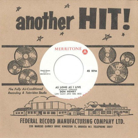 "(7"") DON HENRY WITH LYN TAITT AND THE JETS - AS LONG AS I LIVE / PULUS - SOW TO REAP"