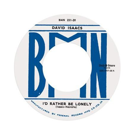 "(7"") DAVID ISAACS ‎– I'D RATHER BE LONELY / SEE THAT MAN"