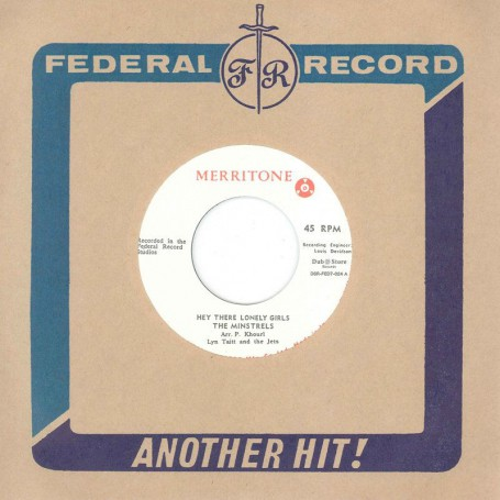 "(7"") THE MINSTRELS WITH LYNN TAITT & THE JETS ‎– HEY THERE LONELY GIRLS / HEY THERE LONELY GIRLS (ACAPELLA)"