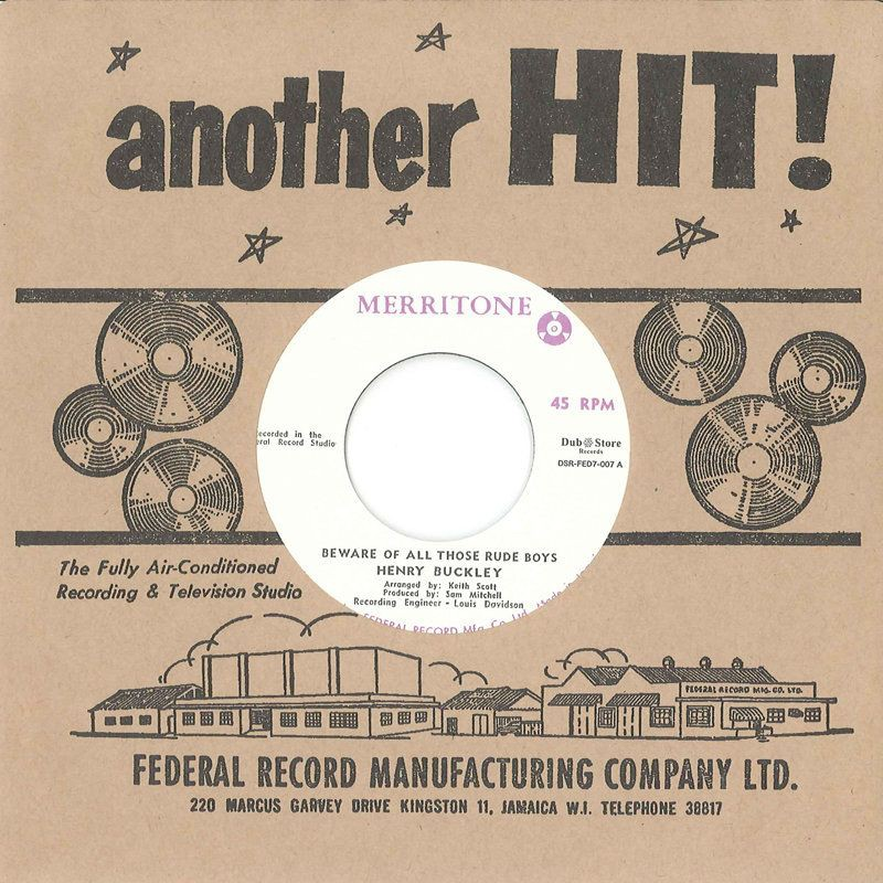 """(7"""") HENRY BUCKLEY – BEWARE OF ALL THOSE RUDE BOYS / IF I AM RIGHT"""