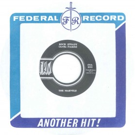 "(7"") THE MARVELS- ROCK STEADY / LLOYD CHARMERS ‎– TRAVELLING ON"