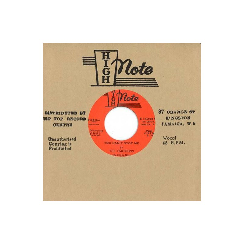 """(7"""") THE EMOTIONS, THE HIPPY BOYS – YOU CAN'T STOP ME / THE STORM"""