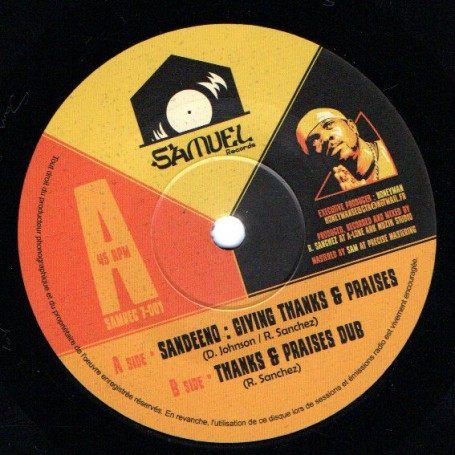 "(7"") SANDEENO - GIVING THANKS & PRAISES / THANKS & PRAISES DUB"