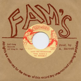 "(7"") VIVIAN JACKSON & THE DEFENDERS - LOVE THY NEIGHBOURS / VERSION"