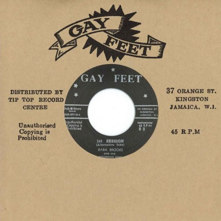 "(7"") BABA BROOKS - 1st SESSION (Alternative Tale) / 1st SESSION"