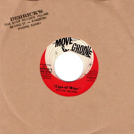 "(7"") DENNIS BROWN - LIPS OF WINE / THE CRYSTALITES - STRANGER IN TOWN"