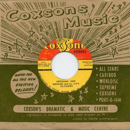 "(7"") HERSANG AND HIS CITY SLICKERS ‎– HERSANG HOP / CALYPSO JAZZ - IRON BAR"