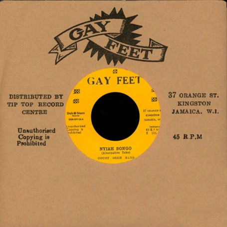 "(7"") COUNT OSSIE BAND - NYIAH BONGO / PATSY MILLICENT TODD & COUNT OSSIE BAND ‎– PATA PATA ROCKSTEADY"