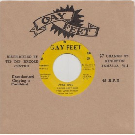 """(7"""") LENNIE HIBBERT, LYN TAITT, COUNT OSSIE - PURE SOUL / PATSY WITH LYNN TAIT & THE JETS - A MAN IS TOO FACE"""
