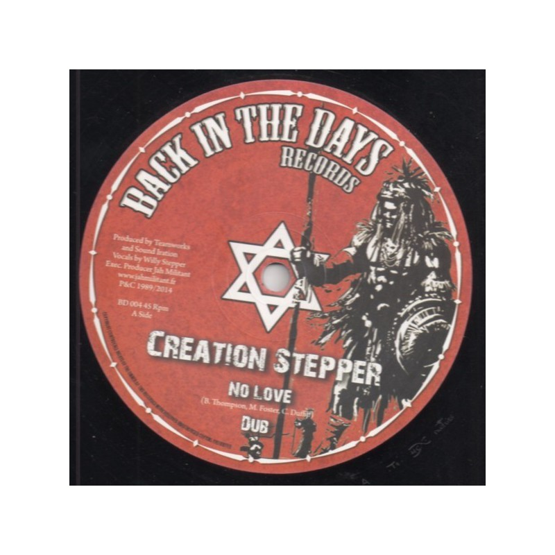"(12"") CREATION STEPPER - NO LOVE / TIME HAS COME"