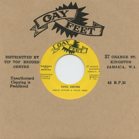 "(7"") LESLIE BUTLER & COUNT OSSIE - SOUL DRUMS / THE GAYLADS, LYN TAITT & THE JETS ‎– ABC ROCK STEADY"