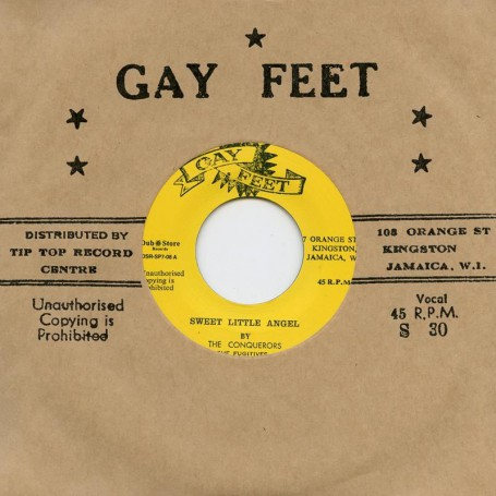 """(7"""") THE CONQUERORS & THE FUGITIVES – SWEET LITTLE ANGEL / TREAT ME RIGHT"""