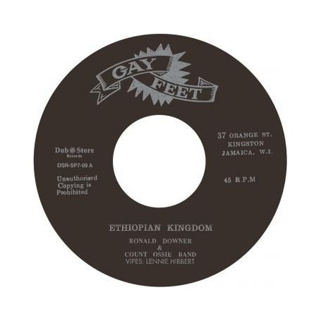 """(7"""") RONALD DOWNER & COUNT OSSIE BAND – ETHIOPIAN KINGDOM"""
