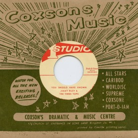 """(7"""") JIMMY RILEY & THE THREE TOPS - YOU SHOULD HAVE KNOWN / THE THREE TOPS – GREAT 68 TRAIN"""