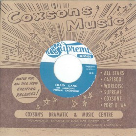 """(7"""") THE JAMAICANS - CHAIN GANG / JACKIE MITTOO & THE SOUL BROS. – DO THE BOGALOO"""