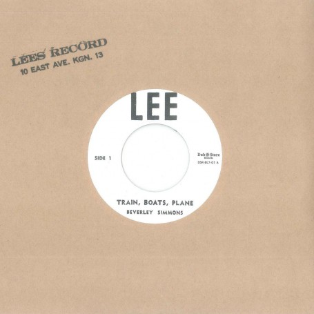 "(7"") BEVERLY SIMMONS ‎– TRAIN, BOATS, PLANE / PLEASE DON'T LEAVE ME"